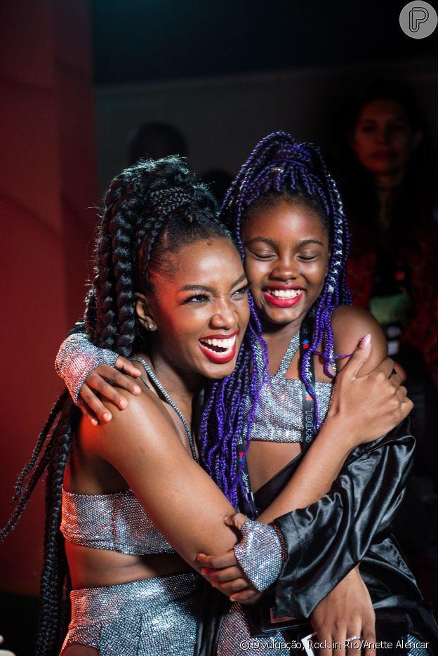 No Rock in Rio, Iza se apresentou com uma menina que era sua fã