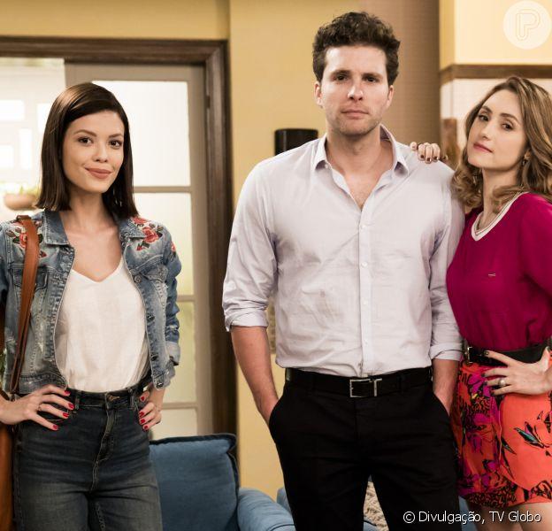 Na novela 'Salve-se Quem Puder', Kyra (Vitória Strada) é humilhada por Petra (Bruna Guerin) e revolta Alan (Thiago Fragoso)
