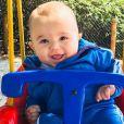 Filho mais novo de Patricia Abravanel, Senor foi elogiado pela mãe em post na web