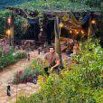 Luan Santana fez a live do jardim de sua casa em SP