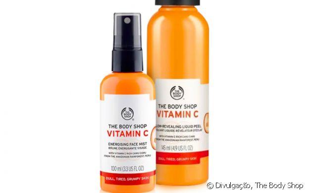 The Body Shop sugere o Kit Luminosidade (R$199,00) com produto esfoliante com vitamina C