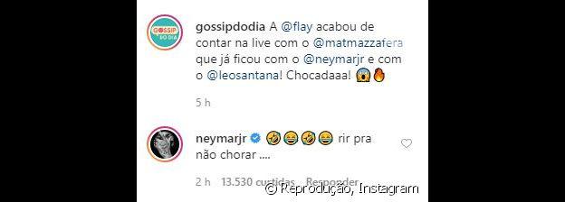 Neymar debocha de afirmação de Flayslane