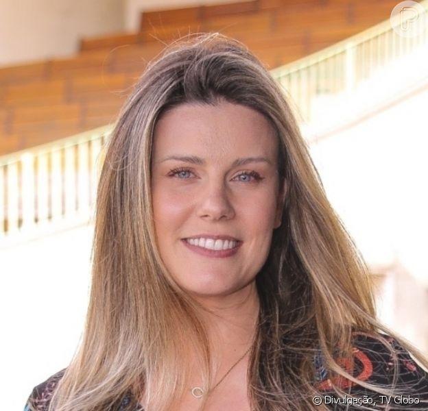 Mulher de Tiago Leifert, Daiana Garbin exibiu barriguinha da 1ª gravidez em foto: '20 semanas'