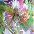 Bruna desfilou como destaque durante o Carnaval do Rio de Janeiro