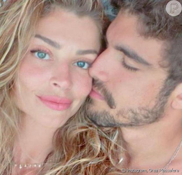 Grazi Massafera troca mensagem sugestiva com Caio Castro em vídeo