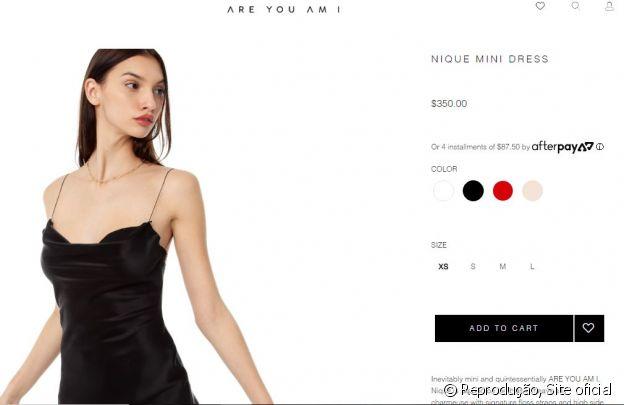O vestido usado por Bruna Marquezine é da grife Are You Am I