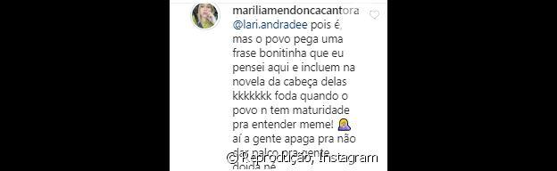 Marília Mendonça responde fã sobre legenda alterada