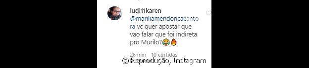 Marília Mendonça recebe comentário de fã sobre alteração em foto