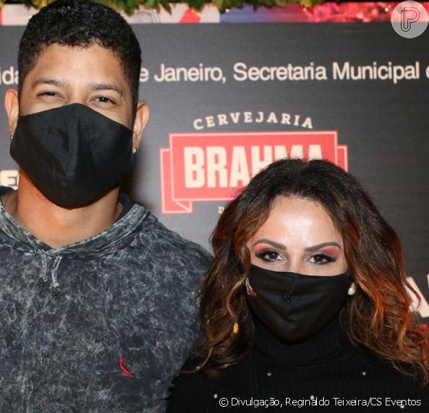 Viviane Araujo e o namorado, Guilherme Militão, curtiram o Festival de Inverno do Rio, nesta sexta-feira, 7 de agosto de 2020