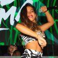 Anitta se divertiu em uma praia da Itália neste domingo, 9 de agosto de 2020