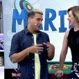 Claudia Raia foi a primeira convidada do 'Mais Você' na estreia de André Marques na atração, que substituiu Ana Maria durante viagem à Disney