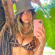 Giovanna Ewbank explicou foto de biquíni com elogios: 'É ângulo'