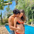 Nathalia Dill e o noivo, Pedro Curvello, curtiram dias de folga em Muro Alto, em Pernambuco