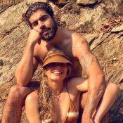 Caio Castro, visto sem aliança, afasta rumor de término com Grazi Massafera: 'Desocupados'