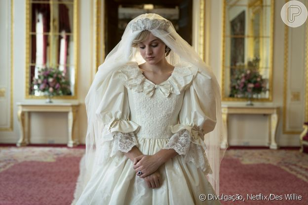 Vestido de noiva de Princesa Diana na série 'The Crown'