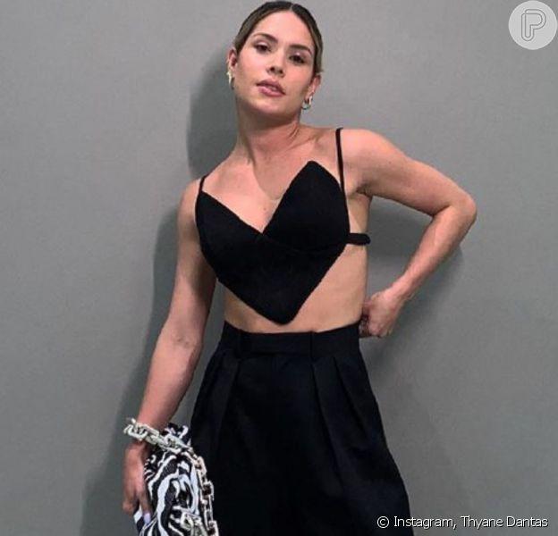 Thyane Dantas usa look com top de marca de Marina Ruy Barbosa e atriz aprova. Veja!
