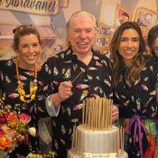 Silvio Santos combina look com a família em festa de 90 anos: 'Pijamas'