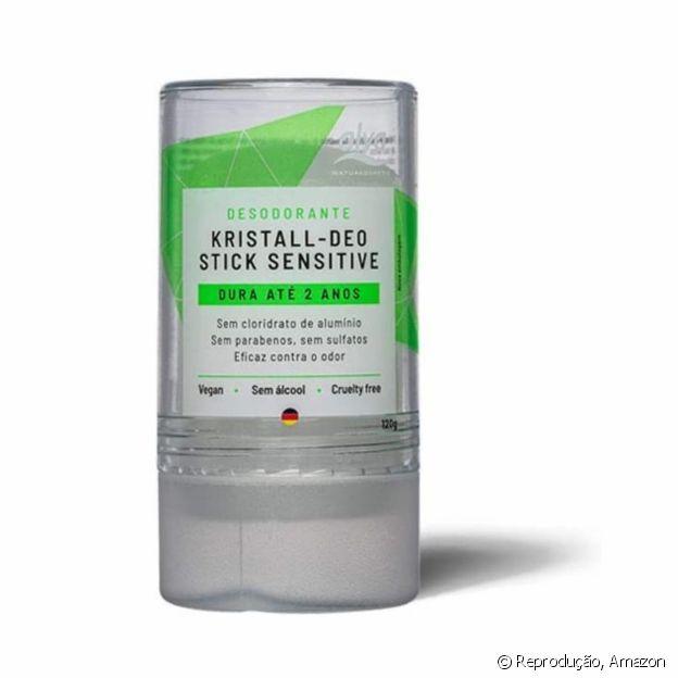 O desodorante Stick Kristall Sensitive é vegano e sustentável