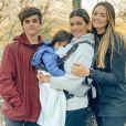 Kelly Key é mãe de Suzanna Freitas, de 20 anos,  Jaime Vitor, de 15, Artur, de 3
