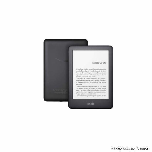 O Kindle, com tecnologia e luz embutida, facilita a rotina de leitura
