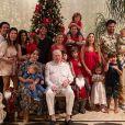 Alexandre Pato e Rebeca Abravanel passam Natal na casa de Silvio Santos