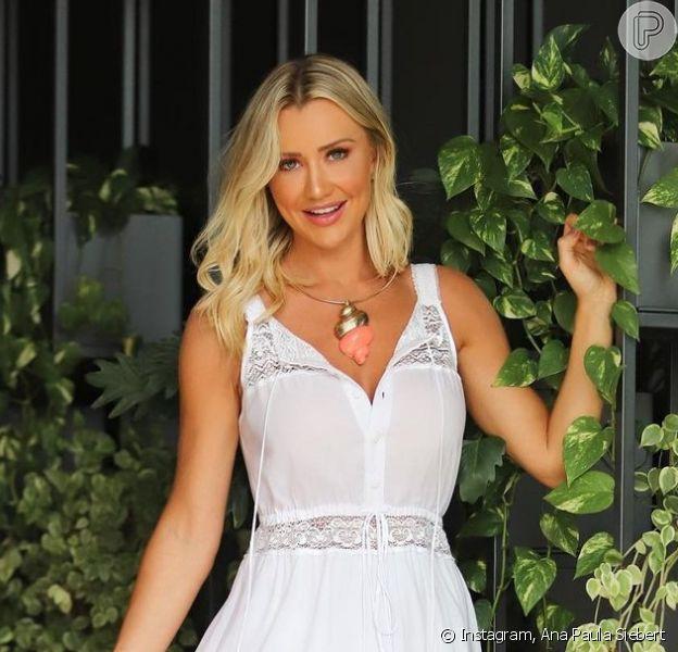 O vestido branco, como o de Ana Paula Siebert, é uma opção para Ano-Novo