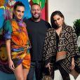 Anitta estava acompanhada da influenciadora brasileira  Isabela Grutman, a modelo Jasmine Sanders e a apresentadora venezuelana  Lele Pons