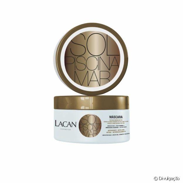 Máscara da Lacan, para proteger os cabelos do sol, mar e piscina