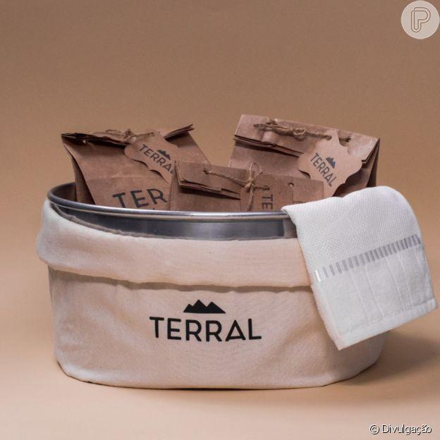 Kit escalda-pés da Terral para relaxar e cuidar da região com carinho