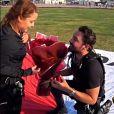 Maiara foi surpreendida com pedido de casamento de Fernando Zor durante salto de paraquedas