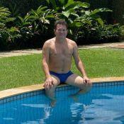 Foto de Ximbinha sem camisa e de sunga em piscina surpreende web: 'Todo bonitão'