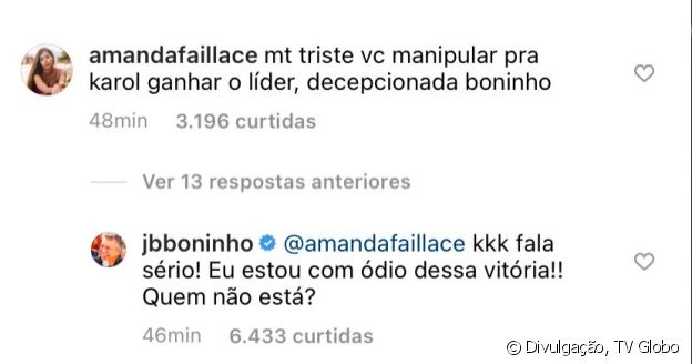 'BBB 21': Boninho admite 'ódio' da vitória de Karol Conká no Líder. 'Quem não está?'