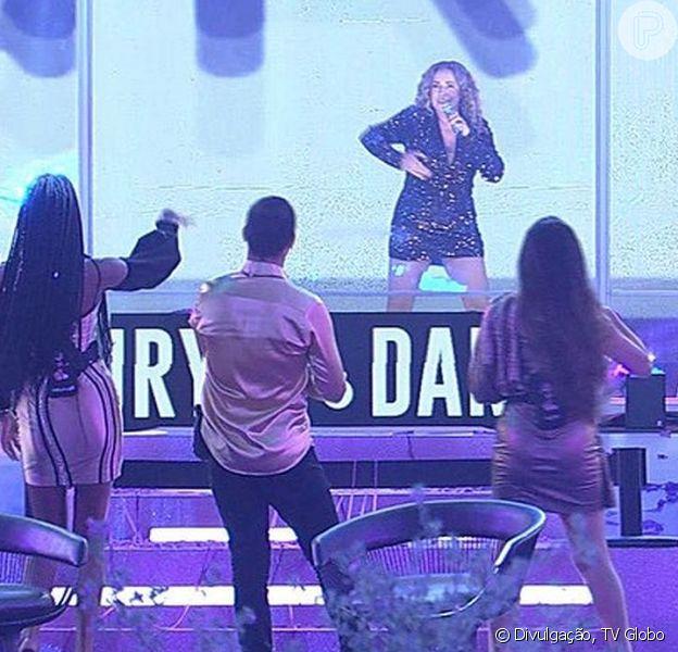 A festa deste sábado, 21 de fevereiro de 2021, no 'BBB21' teve show de Daniela Mercury
