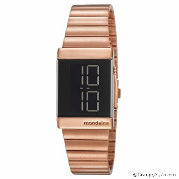 Relógio Rosé Gold em Aço, da Mondaine
