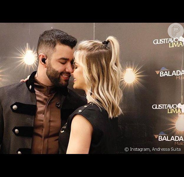 Andressa Suita e Gusttavo Lima reataram casamento. A informação foi confirmada por amigos do casal ao jornalista Leo Dias