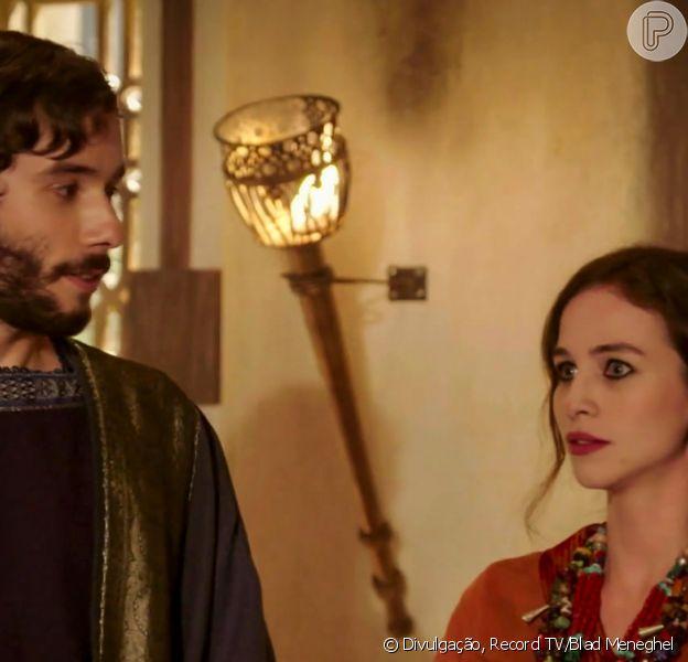 Novela 'Gênesis': Abraão (Vitor Novello) se casa com Sara (Laryssa Ayres)