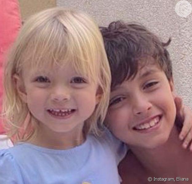 Eliana destacou cumplicidade dos filhos em foto: 'Eles têm um ao outro. Se protegem, se cuidam, brigam, dão risadas, gargalham, brincam e se amam'