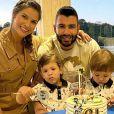 Do casamento com Gusttavo Lima, Andressa Suita é mãe de Gabriel, de três anos, e Samuel, de dois
