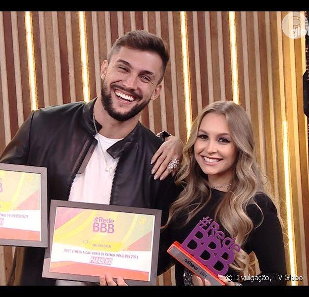 Carla Diaz e Arthur foram escolhidos como o 'Melhor Casal' do 'BBB 21' por votação do público