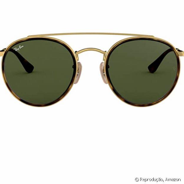 Óculos redondos têm vibe retrô, disponível na Amazon