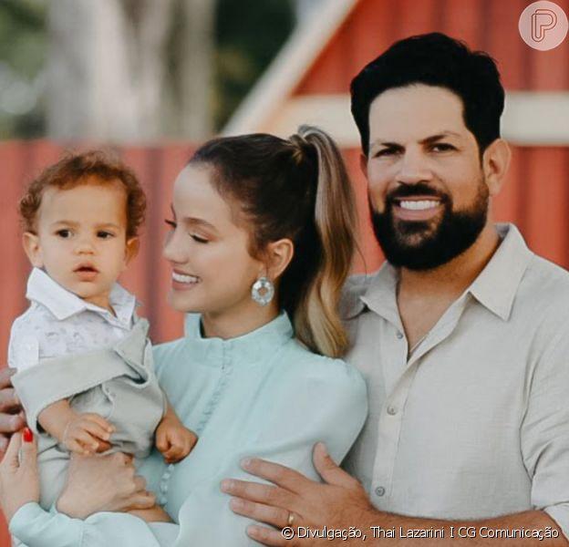 Filho de Biah Rodrigues e Sorocaba, Theo ganhou festa temática ao comemorar 1 ano em 17 de maio de 2021