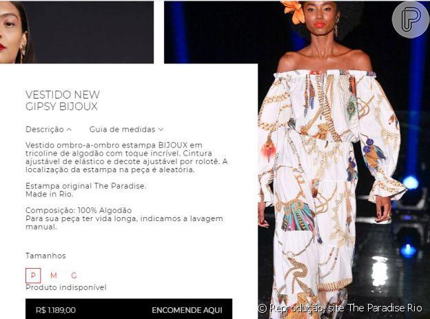 O vestido usado por Xuxa é da coleção de 2019 e custava R$ 1.189.