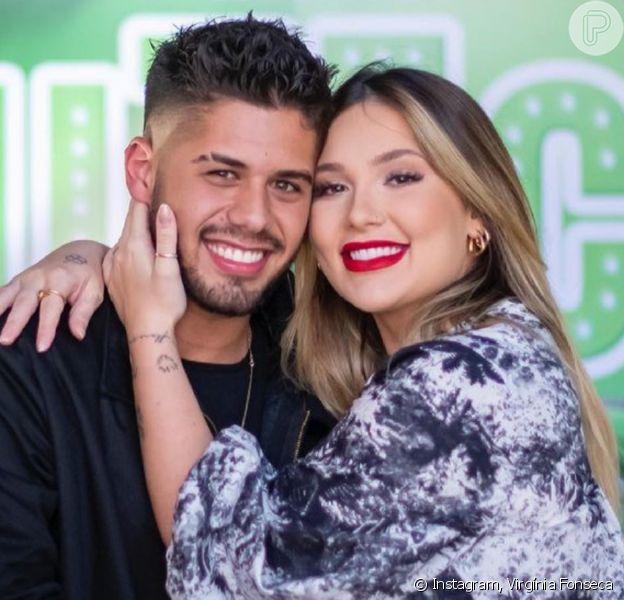 Virgínia Fonseca exibiu pela primeira vez rosto da filha com Zé Felipe, Maria Alice: 'Sua cara'