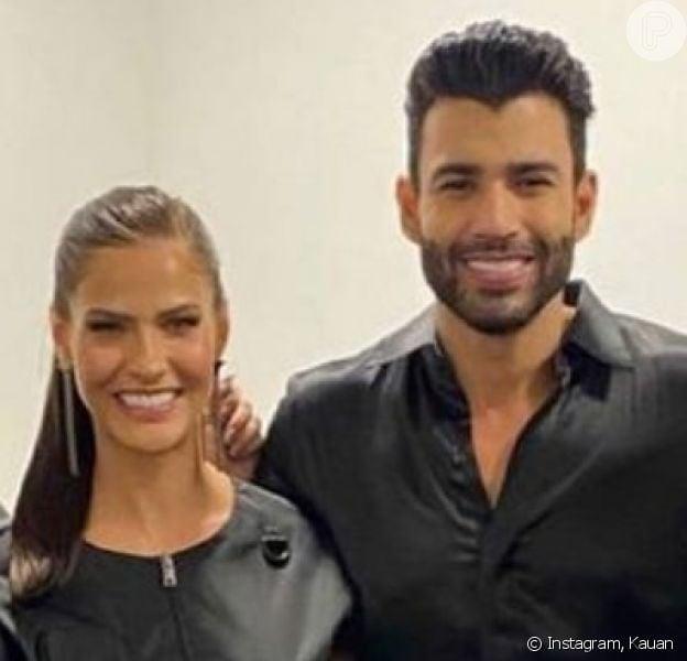 Gusttavo Lima e Andressa Suita aparecem juntos em foto, em 5 de junho de 2021
