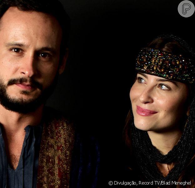 Novela 'Gênesis': Isaque (Guilherme Dellorto) e Rebeca (Bárbara França) se apaixonam ao se verem a partir do capítulo de quarta-feira, 16 de junho de 2021