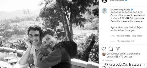 Bruna Marquezine comenta animada em foto de Manu Gavassi e novo namorado