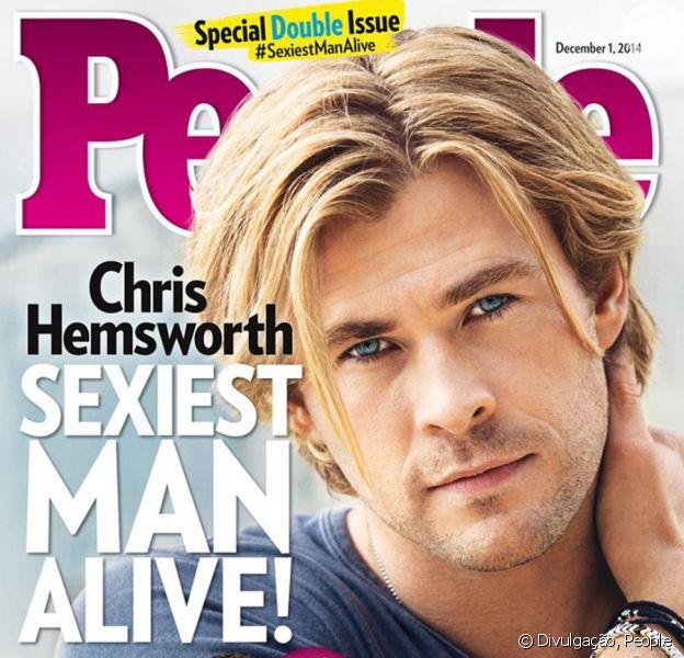 Chris Hemsworth é eleito o homem mais sexy do mundo pela revista 'People'