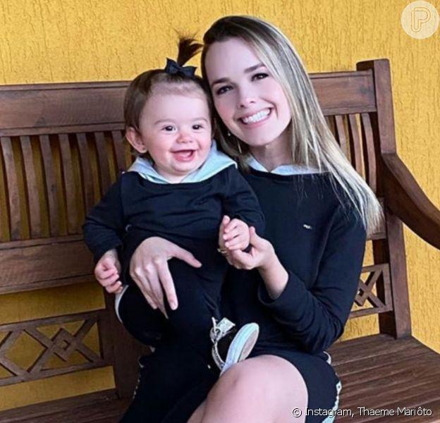 Thaeme Mariôto completou sobre a forma como educa a filha, Liz: 'Tenho a consciência que tudo que eu 'ensinar', seja de negativo ou positivo, eles irão passar adiante'