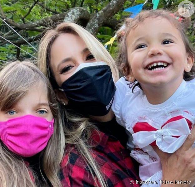 Ticiane Pinheiro mostra festa junina com as filhas e look de Manuella rouba cena: 'Noivinha'