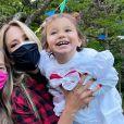Ticiane Pinheiro comemorou festa junina em família